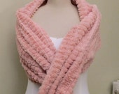 Wedding Shawl Bridal Cover Up Shoulder Wrap  Shrug Powder Pink Faux Fur Stole Bridesmaids Shawls plus size