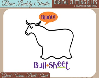 Halloween SVG Cutting File: Ghost Bull Sheet, Funny Ghost, Adult Couples Costume, SVG File, SVG Format File, Cricut Design Space, Clip Art