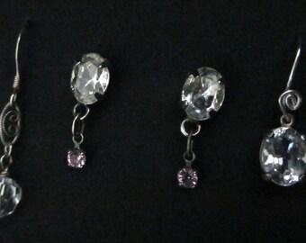 Vintage Earrings Three Pairs