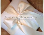 Romantic Satin Ring Bearer Pillow...You Choose the Colors...Buy One Get One Half Off...shown in white and ivory