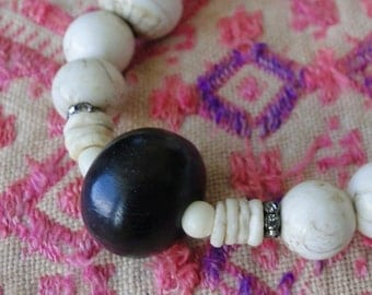 CONCH SHELLS with TAMARIND Bead, yoga, boho, tribal