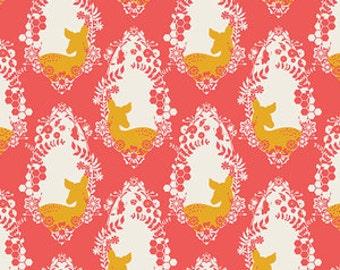 1 HALF YARD Cherished Deer in Bergamot by Bonnie Christine, Art Gallery, Sweet as Honey fabrics