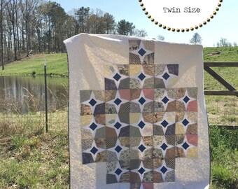Mandela Blossom Quilt Pattern, Twin Size