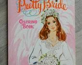 Vintage 1960's Era Whitman Pretty Bride Coloring Book, Wedding book, wedding coloring book