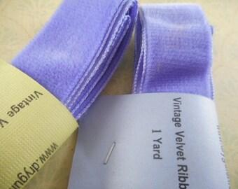 Vintage Velvet Ribbon - 2 yd - Violet