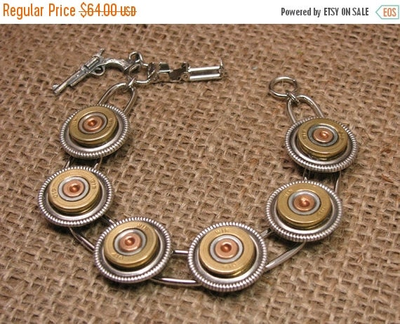 Octoberfest Sale Shotgun Casing Jewelry - Bullet Jewelry - 410 Gauge Shotgun Casing Bracelet - Gun Jewelry - Girls with Guns - Hunting Relat