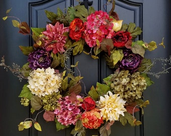 Wreaths, Door Wreaths, Indian Summer Wreath, Summer Fall Wreath, Summer Wreaths, Fall Wreaths, Wreath for Summer, Wreath for Fall