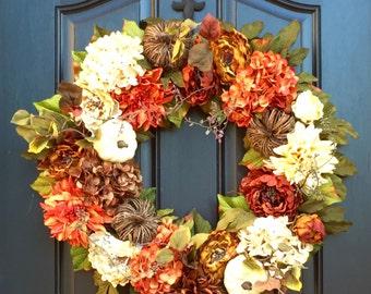 XL Fall Wreaths, Thanksgiving XL Wreath, Fall Wreaths, Wreaths, Front Door Wreaths, Thanksgiving Wreath, Outdoor Fall Wreath, Autumn Wreaths