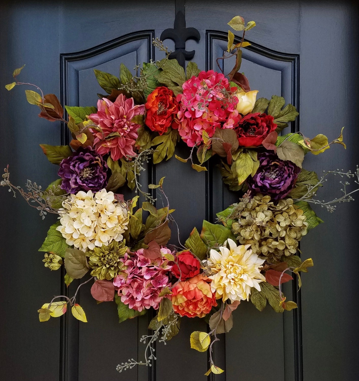 Garland For Front Door: Wreaths Door Wreaths Indian Summer Wreath Summer Fall