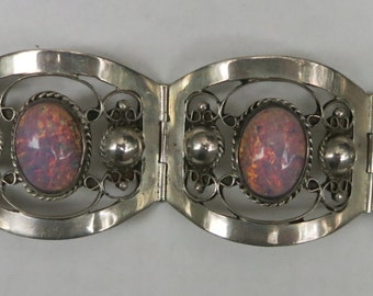 A Bracelet in Sterling and Opal from Mexico