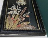 Pressed Flower Art Vintage Framed Dried Wildflowers Botanicals Wood Frame Wall Hanging Floral Collage Home Decor
