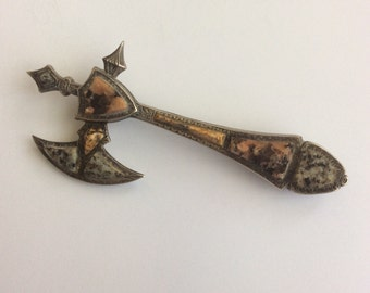 Scottish Battle Axe Brooch from early 1800's