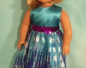 18 inch Doll Teal Special Occasion Dress