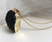 Druzy Pendant, Black Pendant, Party Jewelry,