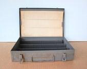 Vintage Metal Slot Slide Holder Case