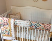 Crib Bedding Arrows Ready to Ship Today