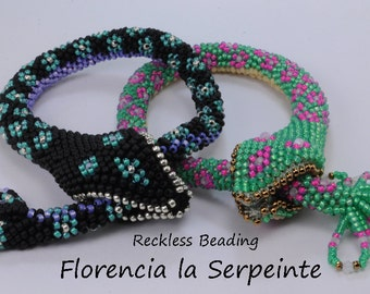 TUTORIAL: Florencia la Serpeinte bead crochet snake
