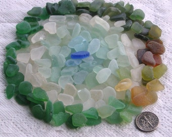 200 Sea Glass Shards Imperfections Art Mosaic Craft Supplies (1848)
