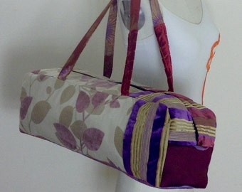 Yoga bag, purple leaves