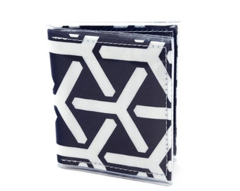Warrior Wallet - Wind turbine geometric fabric