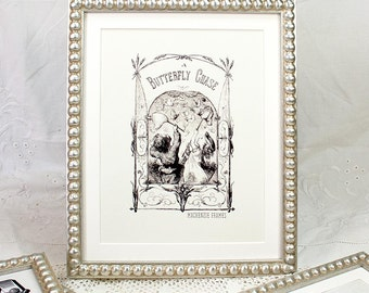 8x10 inch Silver Boules Frame for Photos, Prints and Watercolours/Wedding Bride and Groom Photo/Bridesmaids Gift/Office Desktop Frame 8x10