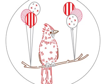 Clever Cardinal PDF Embroidery Pattern