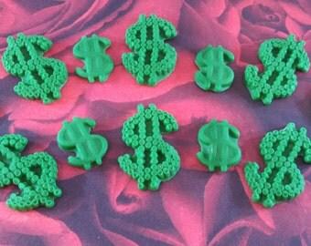 Fondant Money-Fondant Dollar Signs-Edible Money-Money Cupcake Toppers-Fondant Money Toppers-Edible Money Toppers-Fondant Lottery Toppers