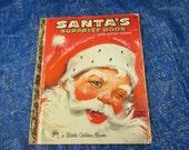 Vintage Little Golden Book--Santa's Surprise Book--Joan Potter Elwart--Christmas Storybook--Holiday Story