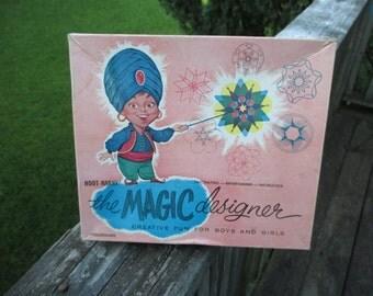 Vintage The Magic Designer--Formerly Hoot-Nanny--Creative Fun--Early Spirograph--Drawing Tool--Retro Fun