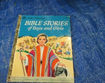 Vintage Little Golden Book--Bible Stories of Boys and Girls--Jane Werner--Golden Press--1974--Religous