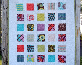 Sugar Pops Windowpanes Patchwork Toddler Child Baby Crib Quilt / Blanket - READY TO SHIP