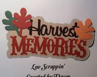 Harvest Memories Scrapbook page Title