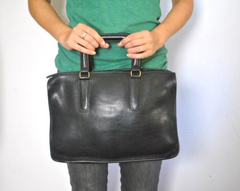 COACH Black Handbag Purse / Bonnie Cashin iPad Tablet bag