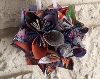 Disney Aladdin Book Small Paper Flower Pomander Ornament