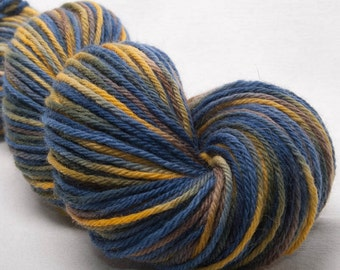 SALE, Hand dyed yarn, Bluefaced Leicester, BFL yarn, hand painted DK, sale yarn, Indie dyed,  100g skein, colour; Westerly