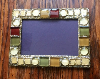 Fall Sparkle Picture Frame (holds a 4 x 6 photograph)