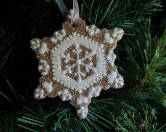 Snowflake Ornament Everlasting Gingerbread Christmas Decoration READY TO SHIP