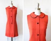 vintage red mod dress, 60s mod scooter dress, small mod mini dress