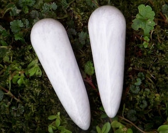 """Small SCOLECITE """"Lightworker's Stone"""" Gemstone Wand Point in Gift Bag"""