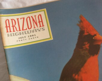 Arizona Highways magazine, July 1961, collectors, mixed media art, scrapbooking, collage, collectors