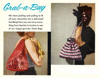 Crochet bags - 4 Vintage PDF Crochet Pattern - instant download