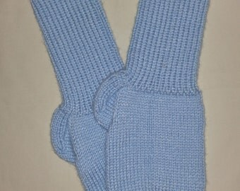 New Warm and Soft Hand Knit Socks (9.5 inches length)