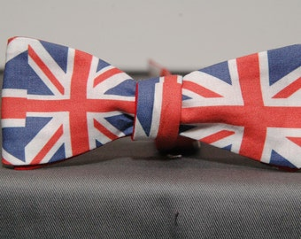 Union Jack British Flag Bow tie
