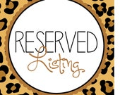 RESERVED FOR TIFFANI