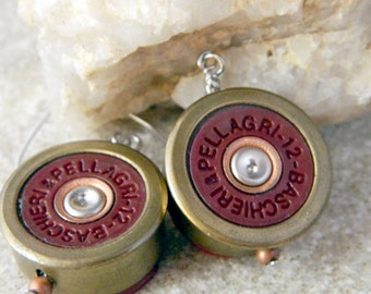 Baschieri & Pellagri 12 Gauge Bullet Shell Earrings