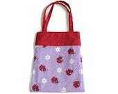 Handmade Fabric Ladybug Gift Bag/Goodie Bag - Ladybugs