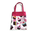 Handmade Fabric Cupcake Gift/Goodie Bag - Cupcakes