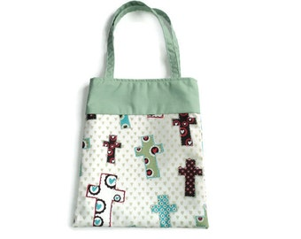 Fabric Christian Gift/Goodie Bag - Crosses
