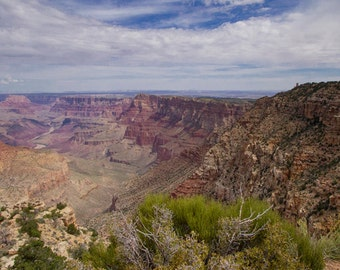 Grand Canyon Desert View  Photo - 10x20 Nature Landscape Photography Print - Desert View Grand Canyon Arizona