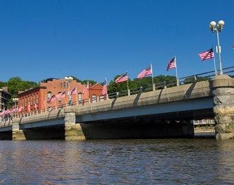 Saugatuck River Bridge Photo - 11x14 Color Photograph Print - Westport, Connecticut